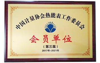 中国计量协会热能表工作委员会会员单位-腾越科技