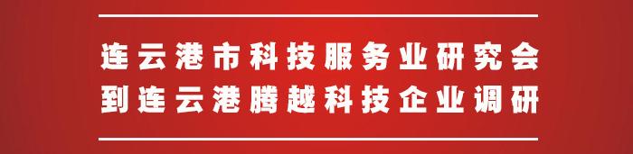 连云港市科技服务业研究会到腾越科技企业调研